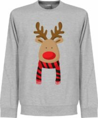 Grijze Merkloos / Sans marque Reindeer Manchester United Supporter Sweater - KIDS - 3-4YRS