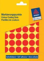 Avery Etiket Zweckform 18mm rond blister 22 vel a 48 etiketjes rood