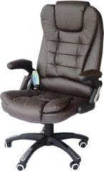 Bürosessel / Chefsessel mit Massage- und Wärmefunktion HOMCOM braun
