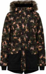 Zwarte O'Neill Zeolite Jacket Dames Ski jas - Black Aop - Maat XS