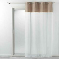 Livettti.NL Livetti | Vitrage - Net Curtain | Bruin - Wit | 140x240 | Polyester-Cotton | 1626381