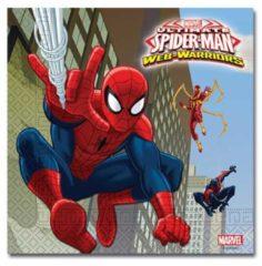 Marvel Spider-Man-Papieren-servetten-(twee-lagen)-blauw-maat-One-size