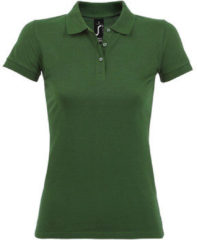 Groene Polo Shirt Korte Mouw Sols PERFECT COLORS WOMEN