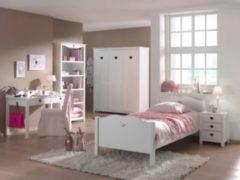 Vipack Furniture Vipack Set Amori bestehend aus: Einzelbett, Nachtkonsole, Schreibtisch, Regal und Kleiderschrank 3-trg.