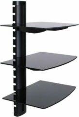 Zwarte INOTEK JET103 Wandplank voor audio-video-apparaten - 3 planken
