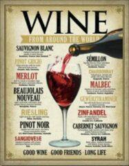 Usa Wine around the world wandbord reclamebord wijn