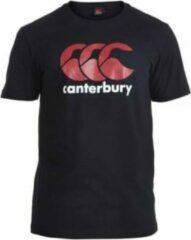 Canterbury Shirt Logo Heren Katoen Zwart/rood/wit Maat Xs