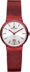 Rode Danish Design edelstalen dameshorloge Tåge Red Small IV74Q971