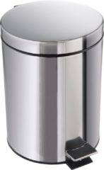 Zilveren Merkloos / Sans marque Pedaalemmer RVS 12 Liter incl binnenemmer