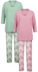 Schlafanzug Harmony jade/altrose/grau