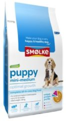 Smolke Puppy Mini-Medium Kip&Lam&Vis - Hondenvoer - 3 kg