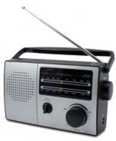 Afbeelding van Caliber Draagbare radio HPG317R retro FM Radio op batterijen