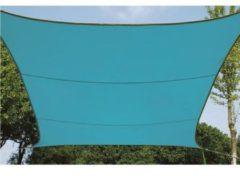 Lichtblauwe Velleman Schaduwdoek - Zonnezeil - Vierkant 5 X 5 M, Kleur: Hemelsblauw