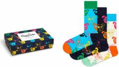 Happy Socks 3-Pack Mixed Dog Socks - Giftbox - Maat 36-40