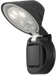 LED-buitenschijnwerper met bewegingsmelder 1 W Warm-wit Zwart Konstsmide Prato 7695-750