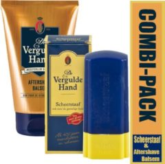 Combi-pack vergulde hand aftershave balsem & scheerstaaf