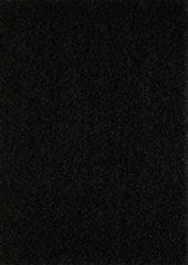 Impression Vloerkleed Zwart Effen Hoogpolig Tapijt Loca - 80x150 cm