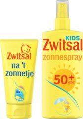 Zwitsal Voor en Na 't zonnetje - Zonnecreme 150 ml + Aftersun 150 ml - Zonnebeschermingsset