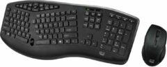 Witte Adesso Draadloos ergonomisch toetsenbord en optische muis
