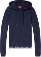 Blauwe Tommy Hilfiger vest homewear Hoody D UW0UW00582-416