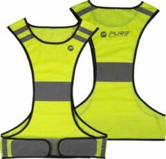Gele Pure2Improve reflecterend hardloop vest, maat M
