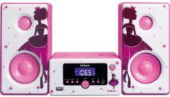 Lenco MC-020 Kompaktanlage mit Bluetooth FM Radio und USB, pink