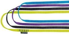 Edelrid - Tech Web 12 mm - Ronde slinge maat 180 cm, geel/groen/wit