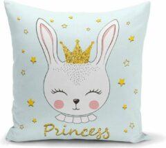 Lichtblauwe Zijou Decoratieve babykamer sierkussen- Princess babykamer kussen 45x45cm
