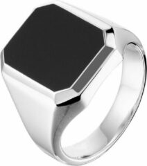 The Jewelry Collection For Men Vigor Zegelring Onyx - Zilver