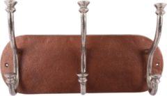 Collectione Landelijke Kapstok Lesina Ovaal 45 cm Koper Met Ruw Nickel 3 Haaks