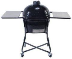 Zwarte Primo Grill and smokers Ovaal Junior Houtskoolbarbecue - Incl. Standaard- Zwart