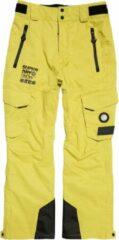 Superdry Snow Rescue Wintersportbroek - Maat XL - Mannen - geel/groen/ zwart