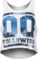 Zumprema - Zero Followers - Crop Top - Wit