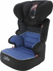 Marvel Befix luxe CAPTAIN AMERICA - Autostoel groep 2 3 - vanaf 3 jaar - goed getest door ANWB - Zwart, Blauw