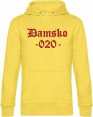 Gele Bc Hoodie Damsko - AJAX - 020 - Amsterdam - Hooligan - Voetbal - Supporter - De Arena Unisex Hoodie M