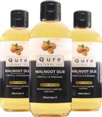 Qure Natural Oil Walnootolie | 100% Puur & Onbewerkt (100ml) | Walnoot Olie voor Haar, Gezicht en Lichaam