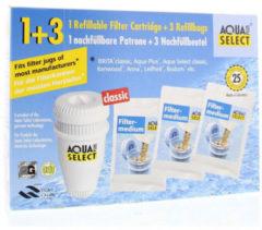 Aqua Select Plus® overstapset: navulpatronen en 3 zakjes granulaat