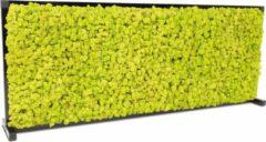 Bureauscherm / deskdivider met rendiermos - kleur: Spring groen - afm: 120 x 47,5 cm (bxh)