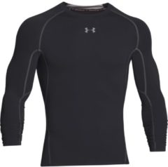 Zwarte Under Armour Men's Armour HeatGear Long Sleeve Compression Top - Black/Steel - S - Black