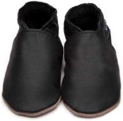 Zwarte Inch Blue babyslofjes plain black maat 5XL (20 cm)