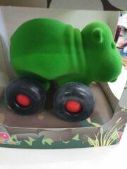 Rubbabu - Dier op wielen - groot - nijlpaard (groen)