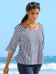 Shirt Alba Moda marine/weiß