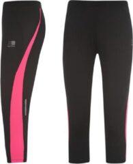 Roze Karrimor Hardloop Capri - Running Capri - Dames - Zwart/Pink - XXL (18)
