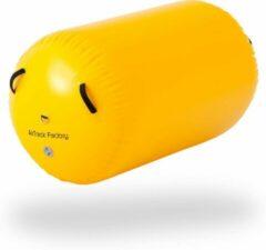 AirTrack Factory AirRoll geel | 75cm diameter | Flikflak hulp | 5 jaar garantie | + tas
