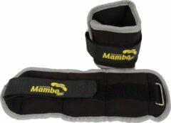 Pols enkelgewichten 2 x 1 kg - Mambo Max | Grijs - Zwart