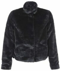 ONLY Faux Fur Jas Dames Zwart