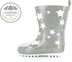 Grijze Shoesme Meisjes Rubber laarzen - Grey Star - Maat 25