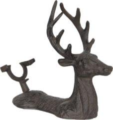 Clayre & Eef | Flessenhouder hert 26*12*24 cm | Bruin | Ijzer | Fleshouder | Hert | 6Y3070