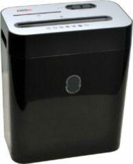 Zwarte DESQ Papiervernietiger 20052 | 10 vel | 4 x29 mm | P4 | Ook creditcards en CD | 18 liter opvangbak | Aparte opvangbak voor cd/cc