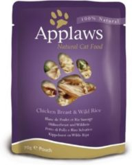 Applaws Cat - Chicken Breast & Wild Rice in Broth - 12 x 70 g